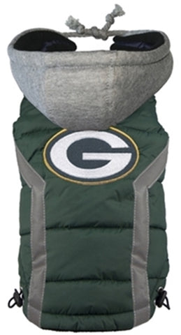 Green Bay PACKERS NFL  dog Jacket in color Green - Daisey's Doggie Chic - 1