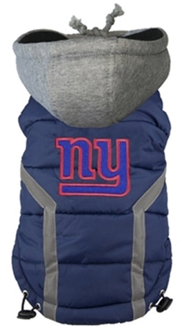 New York GIANTS  NFL dog Jacket in color Blue - Daisey's Doggie Chic - 1