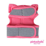 "Pinkaholic NY ""Harper Pinka""  Wrap-around-Velcro Hooded Harness Vest in Hot Pink Stripe - Daisey's Doggie Chic - 2"