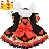 Queen of Hearts (Alice in Wonderland) Dog Costume with Heart Charm - Daisey's Doggie Chic