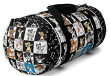Exclusive Pet Art Duffel Bag - Jazzy Notes Dogs Dance to Their Own Beat Collage- 2 Sizes S or L - personalize - Daisey's Doggie Chic
