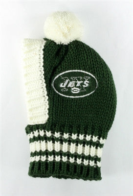 New York JETS NFL Official Licensed Ski Hat for Dogs in color Green/White - Daisey's Doggie Chic