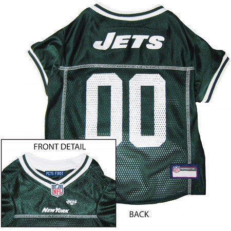 New York JETS  NFL dog Jersey in color Green - Daisey's Doggie Chic