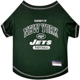 New York JETS  NFL dog T-Shirt in color Green - Daisey's Doggie Chic - 1
