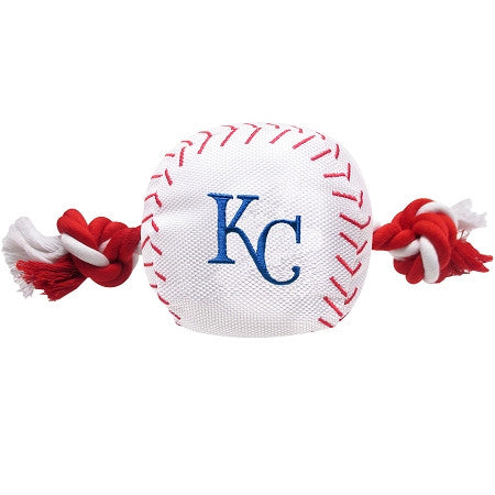 KC ROYALS MLB Baseball Tug'n Chew Toy - Daisey's Doggie Chic