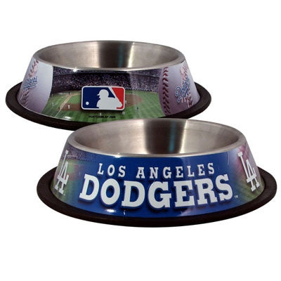 LA DODGERS   MLB 32 oz. Water Bowl - Daisey's Doggie Chic - 1