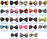 Super Fun & Festive Bow Tie for Small Dogs in Classic B/W Pinstripe - Daisey's Doggie Chic - 2