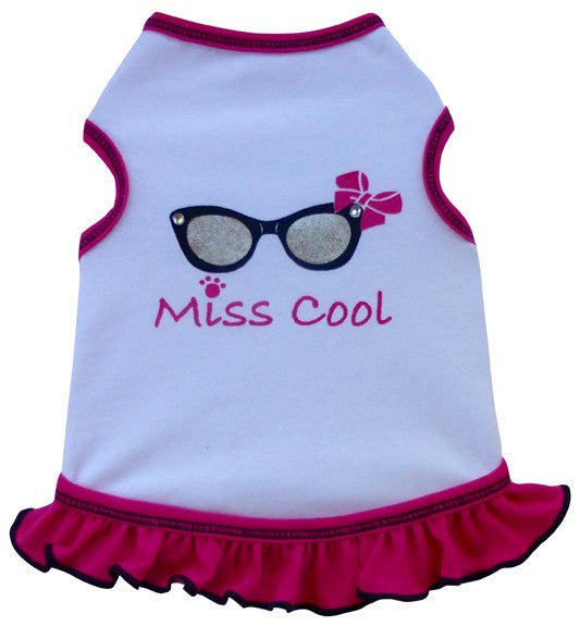 Miss COOL Tank Dress in color Pink - Daisey's Doggie Chic