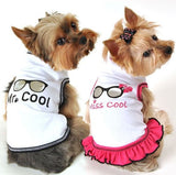 Miss COOL & Mr. COOL  Tank Tops - Daisey's Doggie Chic
