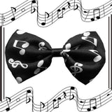 Super Fun & Festive Bow Tie for Small Dogs in Classical Music - Daisey's Doggie Chic
