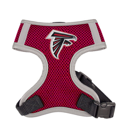 Atlanta FALCONS NFL dog Reflective Harness in Color Red - Daisey's Doggie Chic - 1