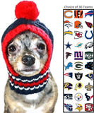 NFL Official Licensed Ski Hat for Dogs - Available in 30 NFL Team Logos - Daisey's Doggie Chic