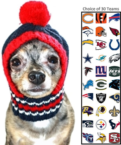 NFL Official Licensed Ski Hat for Dogs - Available in 30 NFL Team Logos -  Daisey s ... 147242a38