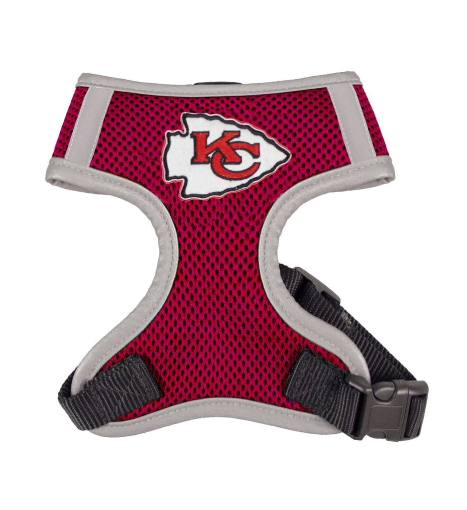 Kansas City CHIEFS NFL dog Reflective Harness in Color Red - Daisey's Doggie Chic - 1