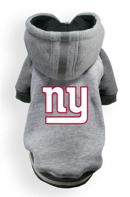 New York GIANTS  NFL dog Helmet Hoodie in color Athletic Gray - Daisey's Doggie Chic - 1