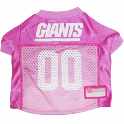 New York GIANTS  NFL dog Jersey in color Pink - Daisey's Doggie Chic - 1
