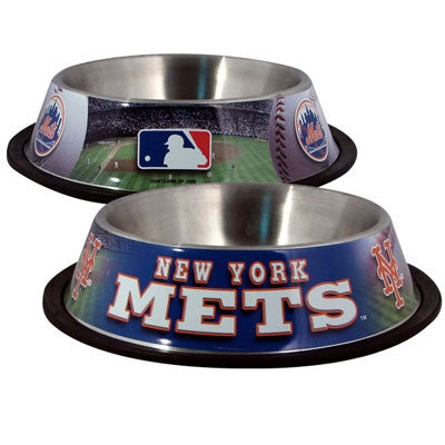 New York METS  MLB 32 oz. Water Bowl - Daisey's Doggie Chic - 1