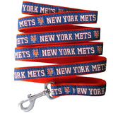 New York METS   MLB Nylon Leash - Daisey's Doggie Chic