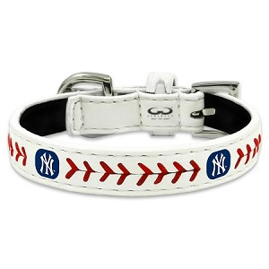 New York YANKEES  MLB Leather Collar - Daisey's Doggie Chic