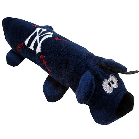 New York YANKEES   MLB Plush Tube Squeaker Toy - Daisey's Doggie Chic