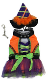 Halloween Witch Dog Costume with Tall Hat - Neon Brights - Daisey's Doggie Chic
