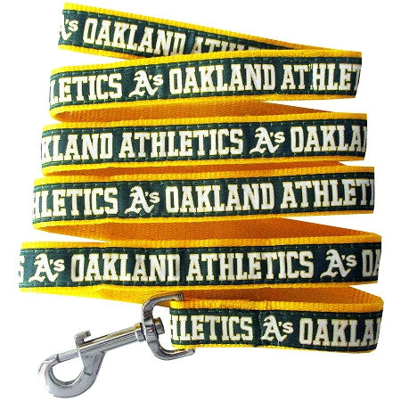 Oakland A's Athletics  MLB Nylon Leash - Daisey's Doggie Chic - 1