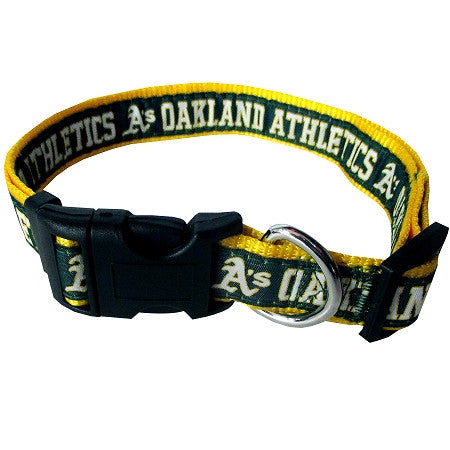 Oakland A's Athletics MLB Nylon Collar - Daisey's Doggie Chic