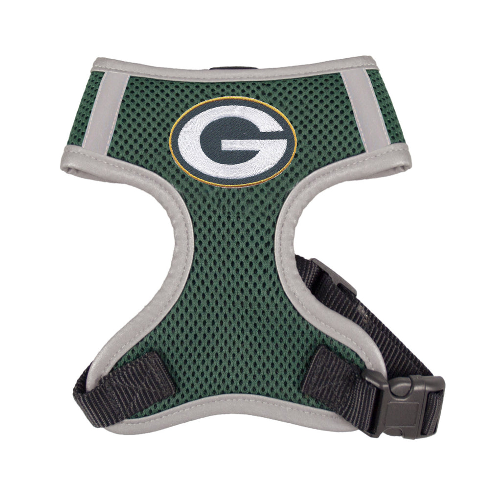 Green Bay PACKERS  NFL dog Reflective Harness in Color Green - Daisey's Doggie Chic - 1