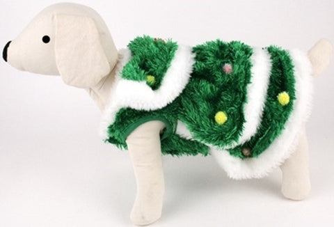 Christmas Tree - Decorated Plush Spruce with Ornaments  - Dog Costume - Daisey's Doggie Chic