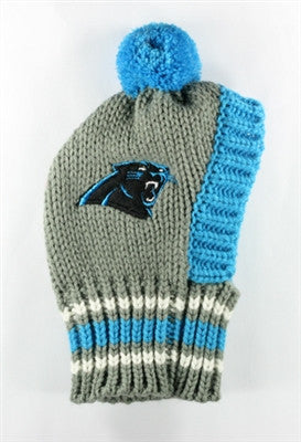 Carolina PANTHERS NFL Official Licensed Ski Hat for Dogs in color Blue/Gray - Daisey's Doggie Chic