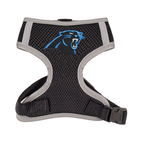 Carolina PANTHERS  NFL dog Reflective Harness in Color Black - Daisey's Doggie Chic