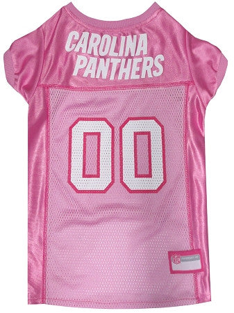 Carolina PANTHERS  NFL dog Jersey in color Pink - Daisey's Doggie Chic - 1