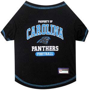Carolina PANTHERS  NFL dog T-Shirt in color Black - Daisey's Doggie Chic