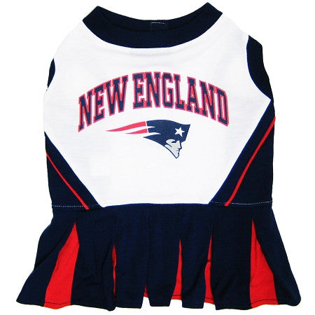 New England PATRIOTS NFL dog Cheerleader Dress - Daisey's Doggie Chic - 1
