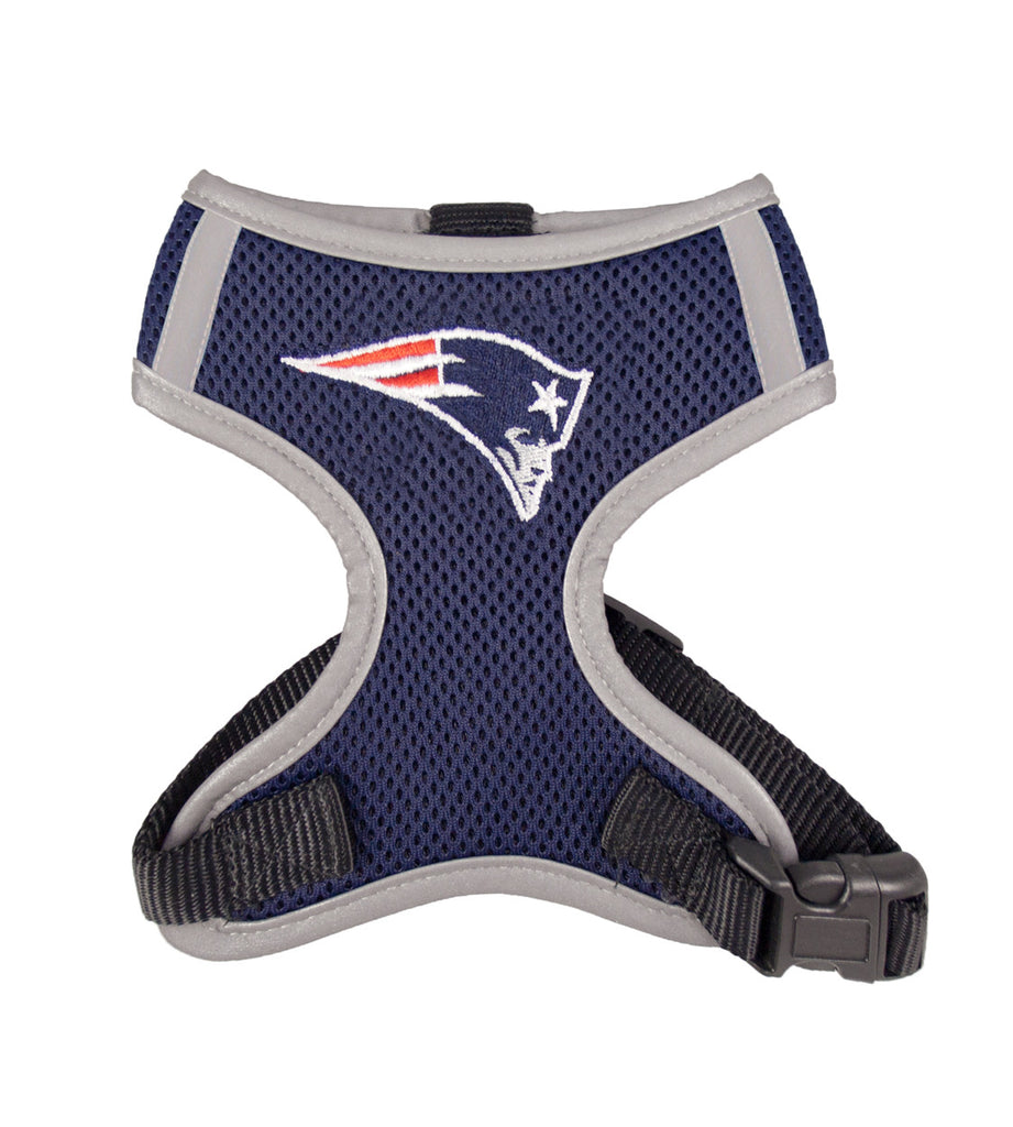 New England PATRIOTS  NFL dog Reflective Harness in Color Navy - Daisey's Doggie Chic - 1