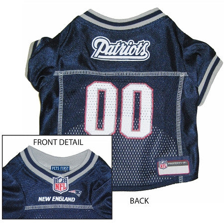 New England PATRIOTS NFL dog Jersey in color Navy - Daisey's Doggie Chic - 1