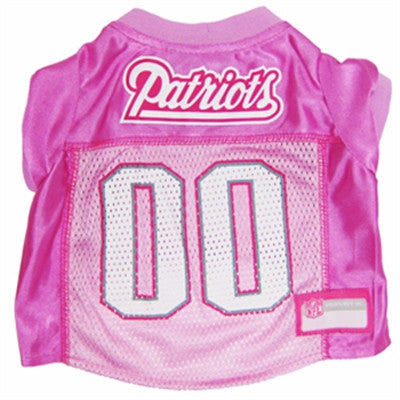 New England PATRIOTS NFL dog Jersey in color Pink - Daisey's Doggie Chic - 1