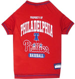 Philadelphia PHILLIES  MLB Tee Shirt - Daisey's Doggie Chic