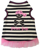 Pirate Pup Ruffled Tank Dress in color Pink/Black - Daisey's Doggie Chic - 1