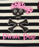 Pirate Pup Ruffled Tank Dress in color Pink/Black - Daisey's Doggie Chic - 2