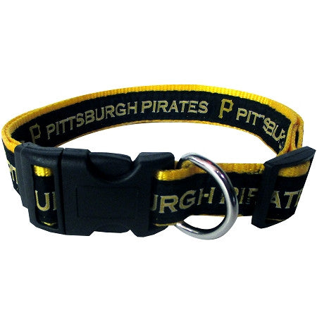 Pittsburgh PIRATES  MLB Nylon Collar - Daisey's Doggie Chic