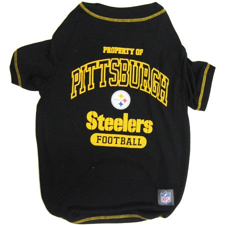 Pittsburgh STEELERS NFL dog T-Shirt in color Black - Daisey's Doggie Chic - 1