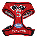 Racing Team Ultra Mesh Choke-Free Halter Harness in Red - Daisey's Doggie Chic