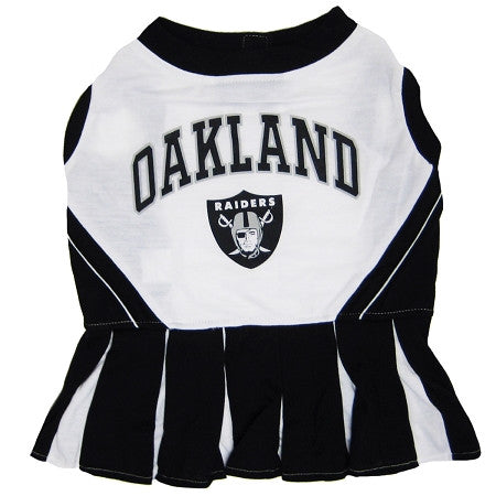 Oakland RAIDERS NFL dog Cheerleader Dress - Daisey's Doggie Chic - 1
