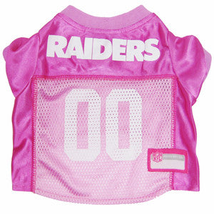 Oakland RAIDERS  NFL dog Jersey in color Pink - Daisey's Doggie Chic - 1