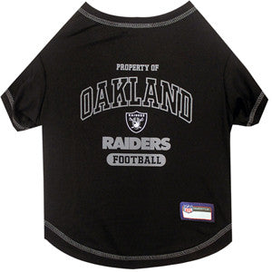 Oakland RAIDERS  NFL dog T-Shirt in color Black - Daisey's Doggie Chic - 1