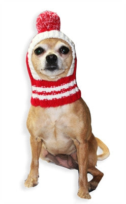 ... Old School Crown Knit Ski Hat w PomPom for Dogs in asstd colors  Pink  ... a9a1a0a13fb
