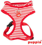 Crabby Beach Party Red Hooded Choke-Free Halter Harness with Smart Tag - Daisey's Doggie Chic - 2