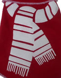 Cozy Holiday Fleece Red/White Scarf Pullover Tank - Daisey's Doggie Chic