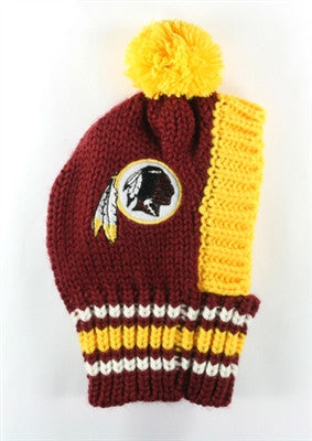 Washington REDSKINS NFL Official Licensed Ski Hat for Dogs in color Burgundy/Gold - Daisey's Doggie Chic - 1